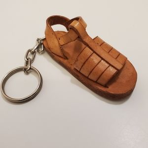 Vintage Mexican Handmade Hauraches Key Chain